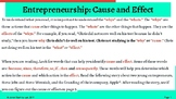 Entrepreneurship: Cause & Effect, How Two Steves Changed t