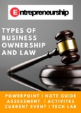 Entrepreneurship Chapter 9 Types of Business Ownership and Law