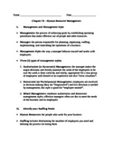 Entrepreneurship - Chapter Notes and Test - Human Resource Management