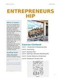 Entrepreneurship Course Syllabus