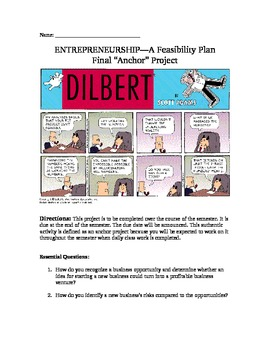 Entrepreneurship: Feasibility Plan Project