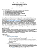 Entrepreneurship Gallery Project Guidelines