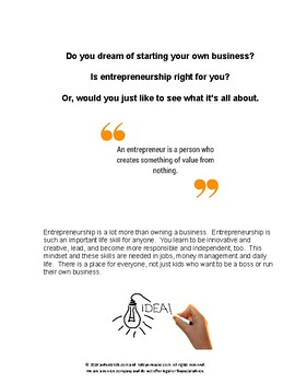 Entrepreneurship Guide for the Ultimate Kid