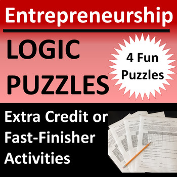 Entrepreneurship Logic Puzzle Activities