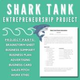 Entrepreneurship Shark Tank Project *Editable Google Drive File*