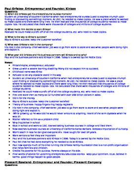 Entrepreneurship- Spotlight on Careers in Entrepreneurship DVD Sheet