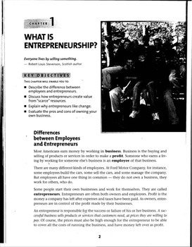 Entrepreneurship Textbook Selections