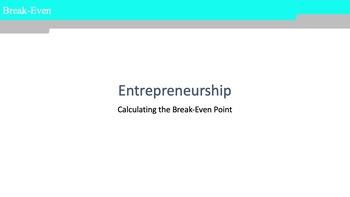 Entrepreneurship - The Break-Even Point