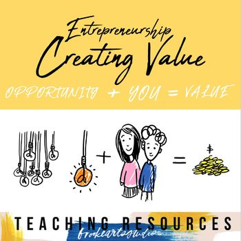 Entrepreneurship Unit Activities & Project - Creating Value #4