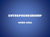 Entrepreneurship Word Wall