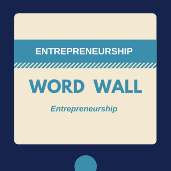 Entrepreneurship Word Wall and Word Cards