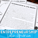 Entrepreneurship in Latin America Reading Activity (SS6E3, SS6E3e)