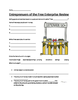 Entrepreneurs of the Free Enterprise System Review