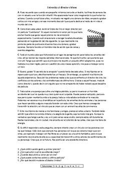 Entrevista al director chileno