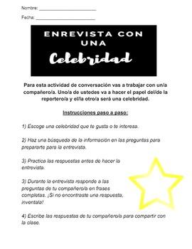 Entrevista con una celebridad - Interview with a celebrity - Spanish students