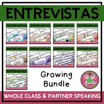 Entrevistas Special Person Presentation and Speaking Activity Bundle