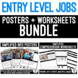 Entry Level Job Posters & Worksheets BUNDLE Distance Learning
