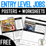 Entry Level Jobs Posters & Worksheets FREEBIE
