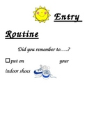 Entry Routine Poster for Kindergarten and Primary Grades