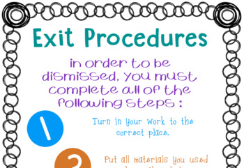 Entry and Exit Procedures