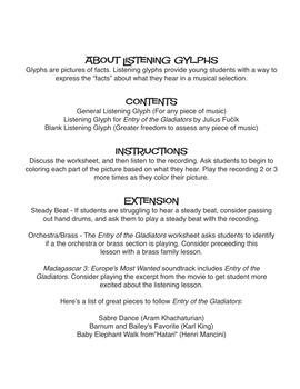 Circus Music (Entry of the Gladiators) | Music Listening Glyph (Digital Print)