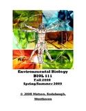 Env. Biology - Laboratory Exercises