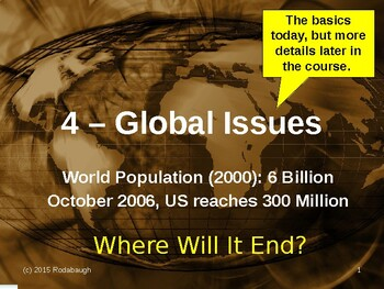 Env. Biology - Lecture 4 - Global Issues