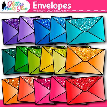 Rainbow Envelope Clip Art {Post Office Graphics for Community Helper Resources}