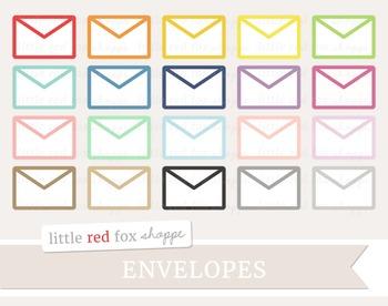 Envelope Clipart; Mail, Letter, Stationery
