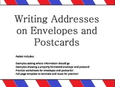 Envelope and postcard writing!