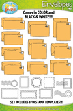 Envelopes and Postal Stamps Clipart {Zip-A-Dee-Doo-Dah Designs}