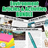 Environment Article and Activities BUNDLE   Earth Day Readings