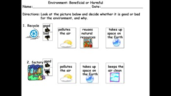 Environment: Beneficial or Harmful, Kentucky attainment, alternate test