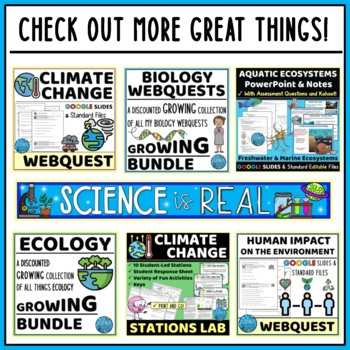 Biodiversity, Water Pollution, and Biomagnification Environment Game & WebQuest