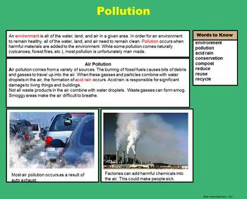 Environment - Conservation and Pollution -  A Fourth Grade PowerPoint