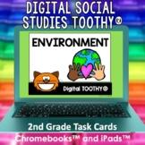 Environment Digital Social Studies Toothy® Task Cards | Di