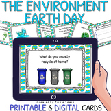 Environment / Earth Day - Conversation cards / Task cards - DIGITAL & PRINTABLE