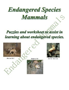 Earth Day - Endangered Mammals - Environment