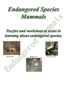Earth Day - Endangered Mammals - Environment