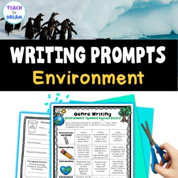 Environment Theme Writing Choice Board: Recount, Persuasive, Narrative, Genres