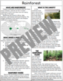Environment/Habitat Informational Pages!