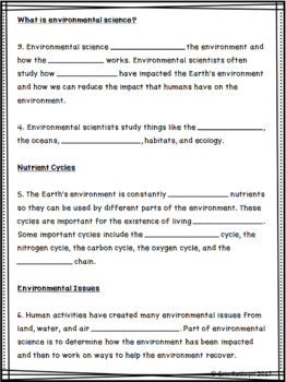 Environment Internet Scavenger Hunt WebQuest Activity