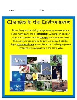 Environment & Natural Changes STUDY GUIDE 4th Grade Science