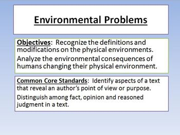 Environment Powerpoint Common Core Standard Notes Activity Game