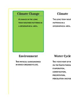 Environment Study Cards 1