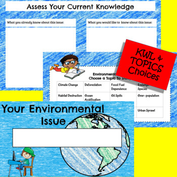 Environment Study Project- Science & ELA Digital Google Classroom