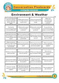 Environment & Weather - Conversation Flashcards