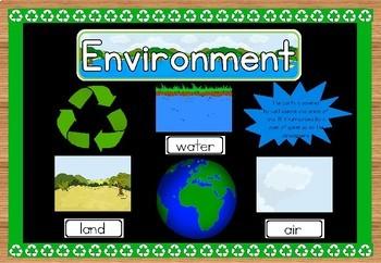 Environment bulletin board set