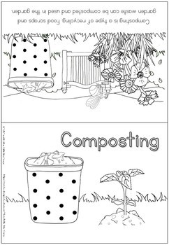 Environment coloring booklet - composting