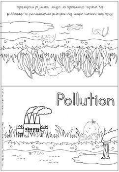 Environment coloring booklet - pollution